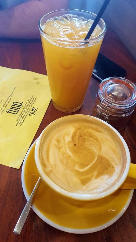 Long Black & Orange Juice