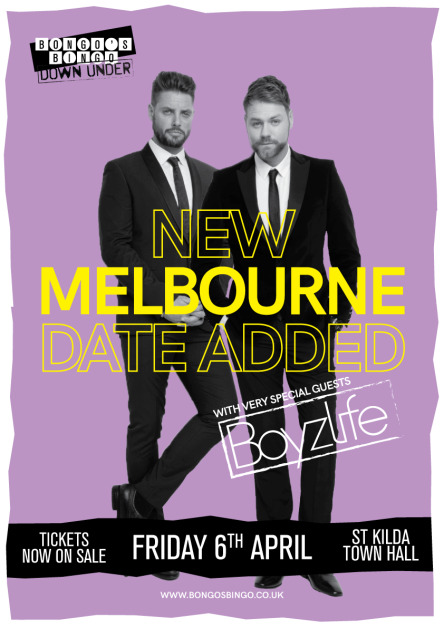 Melbourne and Bongo's Bingo - new date added - Fri 6th April.png